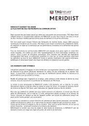 MERIDIIST DIAMANT TAG HEUER LE PLUS RAFFINE ... - Modelabs