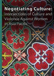 Negotiating Culture - Asia Pacific Forum on Women, Law and ...