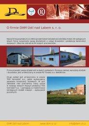 O firmie DAM Ústí nad Labem s. r. o.