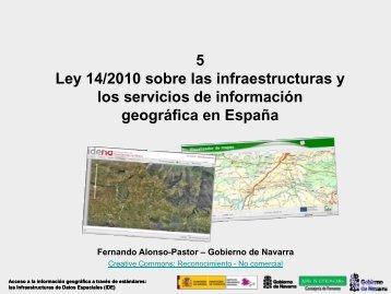 Ley 14/2010 sobre las infraestructuras y los servicios de ... - Gbif.es