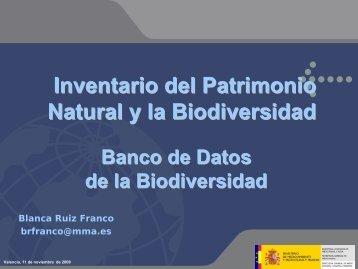 Estrategia Nacional de Biodiversidad e Inventario del ... - Gbif.es