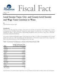 Local Income Taxes: City- and County-Level ... - Tax Foundation