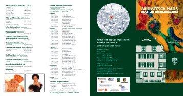 Flyer zu den Veranstaltungen im Frühjahr zum ... - Ariowitsch-Haus