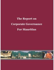 Report on Corporate Governance for Mauritius - European ...