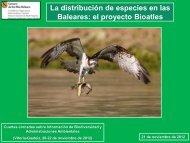 La distribución de especies en las Baleares: el proyecto ... - Gbif.es