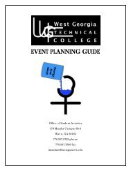 EVENT PLANNING GUIDE - West Georgia Technical College