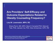 Self-Efficacy and Outcome Expectations Related to Obesity ...