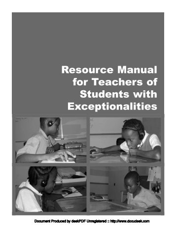 Special Ed Manual.pdf - Uwi.edu