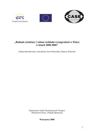 Raport badanie struktury - Ministerstwo Pracy i Polityki Społecznej