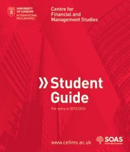 2013/14 Student Guide - Centre for Financial & Management Studies