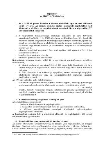 Tájékoztató - Kormanyhivatal.hu