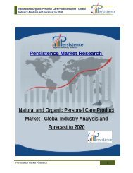 Natural and Organic Personal Care Product Market - Global Industry Analysis and Forecast to 2020