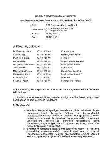 A Főosztály dolgozói: - Kormanyhivatal.hu