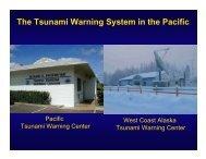 Dengler 4 tsunami Warning System - 100th Anniversary 1906 San ...
