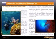 Underwater photography for the Coolpix line - Fantasea