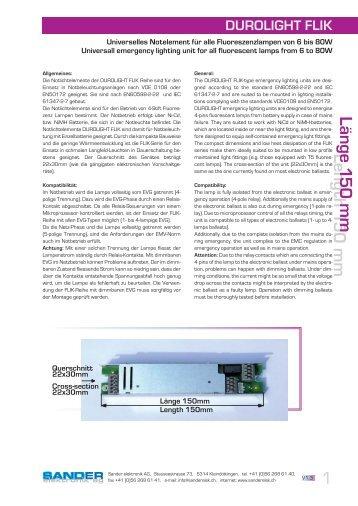 (6 bis 80W) : FLIK - Sander elektronik