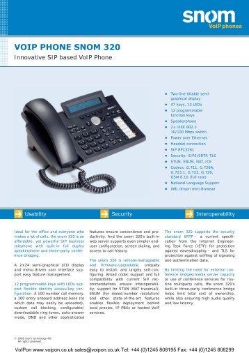 VoIP Phone snom 320 - Linuxkit.co.uk