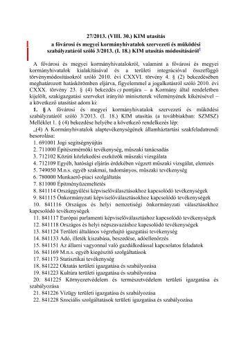 Szervezeti és Működési Szabályzat - Kormanyhivatal.hu