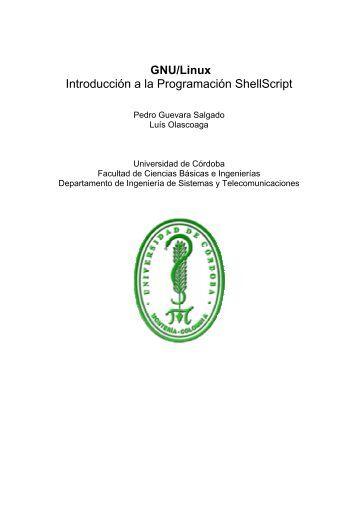 GNU/Linux Introducción a la Programación ShellScript