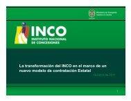 La transformación del INCO en el marco de un nuevo ... - Camacol