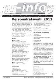 Personalratswahl 2012 - Personalrat Schulen Bremen