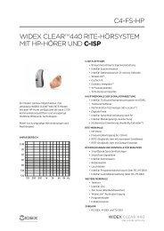 WIDEX CLEARTM440 RITE-HöRsysTEM MIT HP-HöRER unD C ...