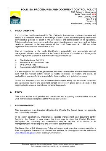 policy and procedure document template - 4 5 209 special event application template city of whyalla