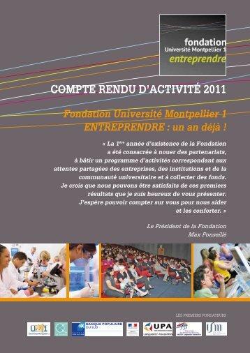 coMPte renDu D'actiVitÉ 2011 - Fondation Entreprendre
