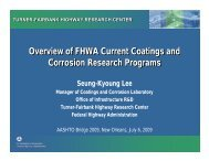 Overview of FHWA Current Coatings and Corrosion Research ...