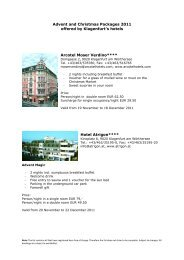 Advent and Christmas Packages 2011 offered by Klagenfurt's hotels ...