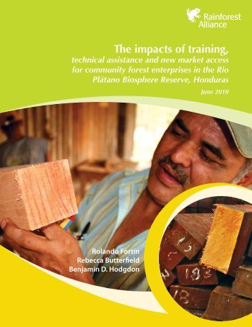 The impacts of training, - Rainforest Alliance