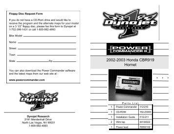 2002-2003 Honda CBR919 Hornet - MPS Racing