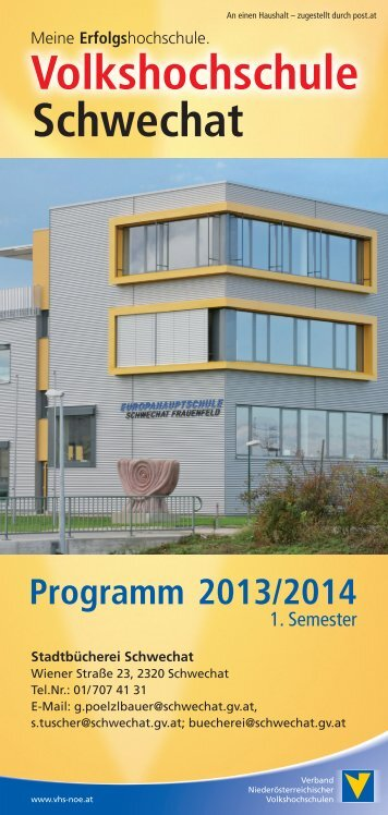 Volkshochschule schwechat Programm 2013/2014