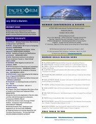 July 2010 e-Bulletin(.pdf) - Pacific Rim Advisory Council (PRAC)