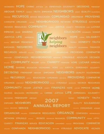Annual Report 1 - Neighbors Helping Neighbors