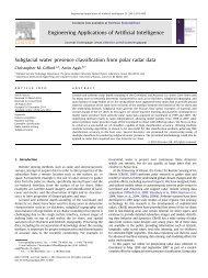 Subglacial water presence classification from polar radar data