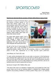Download this Media Release - PDF - Sportscover