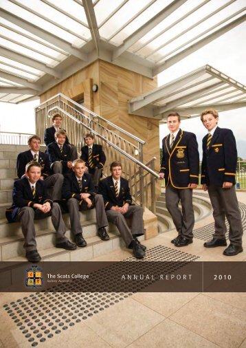 ANNUAL REPORT 2010 - The Scots College