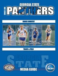 2007-08 Cross Country / Track & Field Media Guide - Georgia State ...