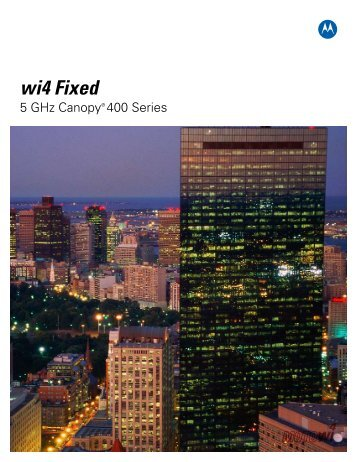 Canopy 400 Series Brochure - Sigma Wireless