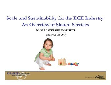 Scale and Sustainability for the ECE Industry - National Head Start ...