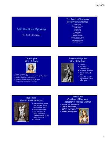 mythology studyguide