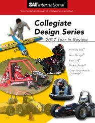 Collegiate Design Series 2007 Year in Review - Students - SAE