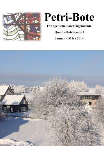 Ausgabe 1/2014 - evangelisch-in-qi.de