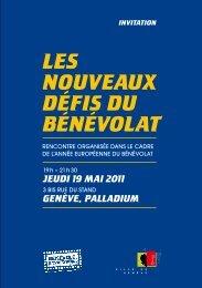 Les nouveaux défis du bénévolat - invitation - mai ... - Ville de Genève
