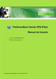 Cliente VPN IPSec TheGreenBow - Manual de Usuario