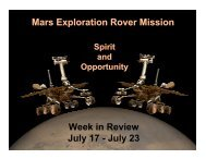 July 23 - Mars Exploration Rover Mission - NASA