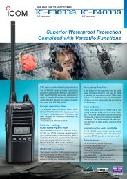 Superior Waterproof Protection Combined with ... - Icom Australia