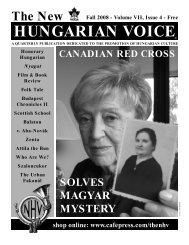 THE NEW HUNGARIAN VOICE FALL 2008