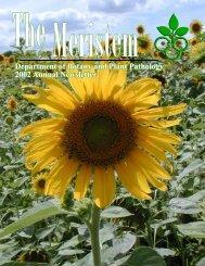 The Meristem for 2002 - Purdue University Botany and Plant Pathology